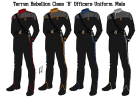 Terran Rebellion Officers Class B Uniform Male by docwinter