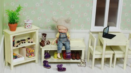 wooden furnitures set for dolls 1/6 irrealdoll by iasio