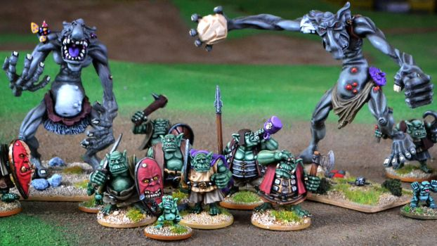 Warmonger Trolls and Orcs by WarmongerMiniatures