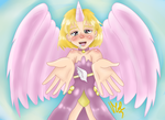 Cute angel by Meloewe