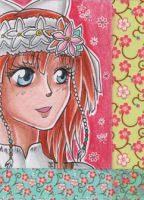 ACEO #139 - Flower Maiden by Elythe