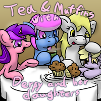 Ask Heart Lift - Tea and Muffins! by SilverBlazeBrony
