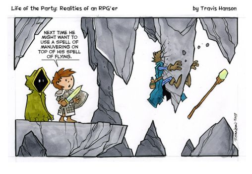 flying spells and wizards... rpg comic by travisJhanson