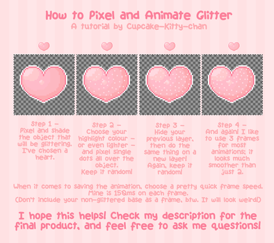 Tutorial - How to Pixel and Animate Glitter by Sugary-Stardust