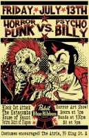 Horrorpunk VS. Psychobilly Poster by FiendishDesign