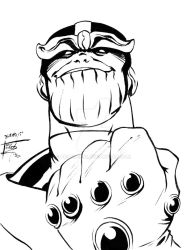 Thanos Sketch Card by BrianLee88