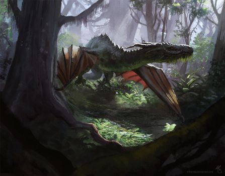 Dragon in the Wild by tithendar