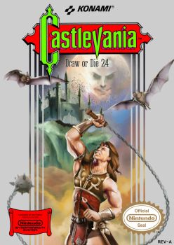 Draw Or Die Ascension 24 NES Castlevania cover A by Lo0bo0