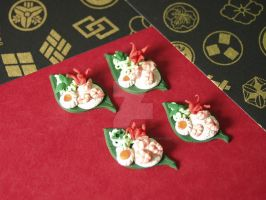 1:12 Scale Miniature Shrimp and Rice Platters by BeautifulEarthStudio