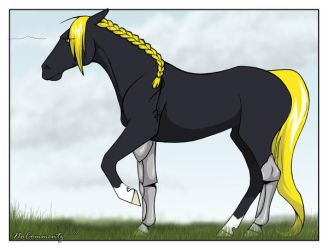 Edward Elric as a horse by NoCommentz