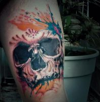 Realistic Skull Tattoo by TATTOOQAC