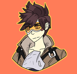 Tracer That Overwatch Character by JuiceboxDraws