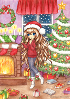 C: Christmas girl by SilverChaim