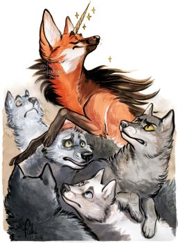 unicorn among wolves by Fukari