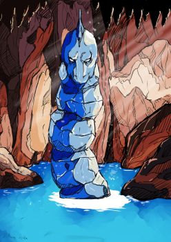 Crystal Onix in his Cave by kitsune-roka