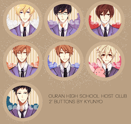 OHSHC 2014 buttons by kyunyo