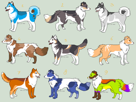 Adoptable Doggies - 1 LEFT by PoonieFox