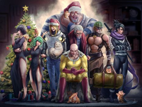 One Punch Man Christmas 2015 by Chewiebaka