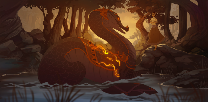 the river god by Grimmla
