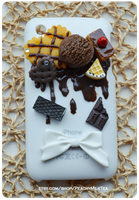 Chocolate iPhone Decoden Case by PeachMilktea