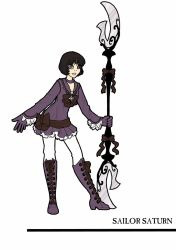 Redesigned Sailor Saturn by inkscribble