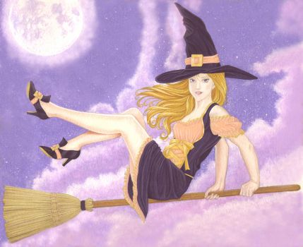 Witch Illustration by Ksoto