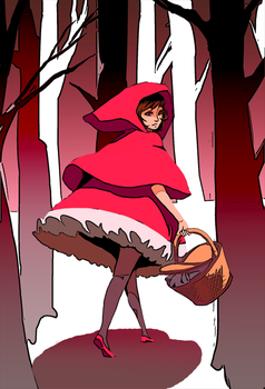 Day Red : Little Red Riding Hood by gniao