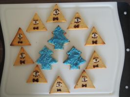 Bill Cipher and Pinetree - Cookies by 2D-Dipper