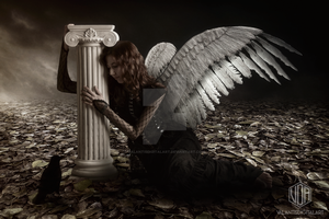 Fallen Angel by ValantisDigitalArt