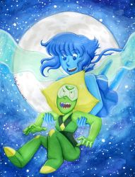 Lapis and Peridot's Moonlight Flight by EmilyCammisa