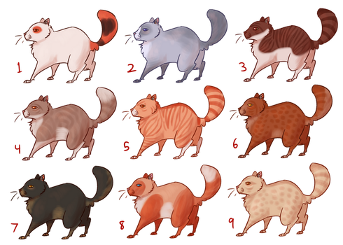 10pt Warrior Cat Adopts--1 OPEN by EleventhChosenOne