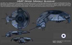 HMP Droid Gunship ortho [New] by unusualsuspex