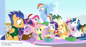 Happy Hearth's Warming From The Crystal Empire by dm29