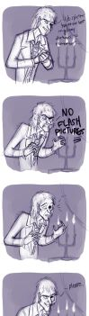 The Ghost Host doesn't like flash by Emmacabre