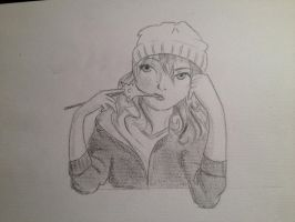 Anime Self Portrait by cari262