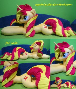Life size (laying down) Sunset Shimmer  plush by agatrix