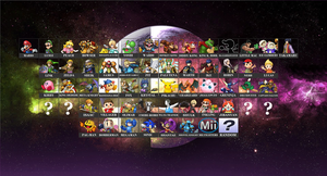 Super Smash Bros. Starting Roster - Concept by Gego-Kurin