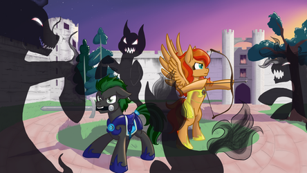 Battle in the Courtyard by NaomiKnight17