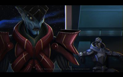 Javik and Garrus for xenowriter by Sythgara