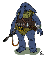 Star Wars - No blue elephant by Konquistador