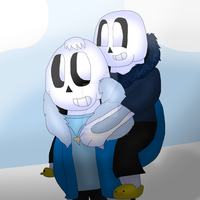 Sans and Little Night Terror by cjc728