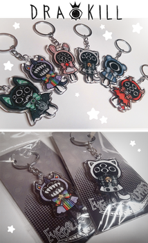 Eyeball Puppet Keychains by DrawKill