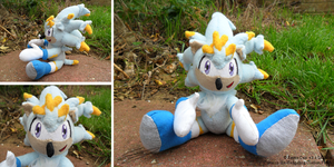 Corusco the Hedgehog Plushie by LiChiba