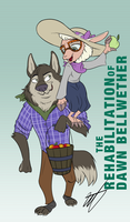 Dawn Bellwether and Vernon Hunter by WastedTimeEE