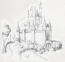 Castle Sketch by JEnilorac