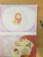 Simba and mufasa by CreepypastaJTK