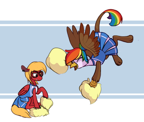 Cheer Squad KatieJay and Feather by Enma-darei by Q99