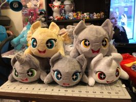 {WIP} BronyCon'18 - MLP Chibi/Roll/Stacking Plush by RubioWolf