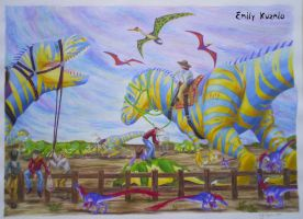 Cretaceous Cowboys by Emchromatic