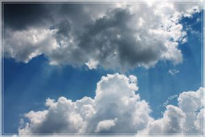 Clouds with rays by Ankh-Infinitus